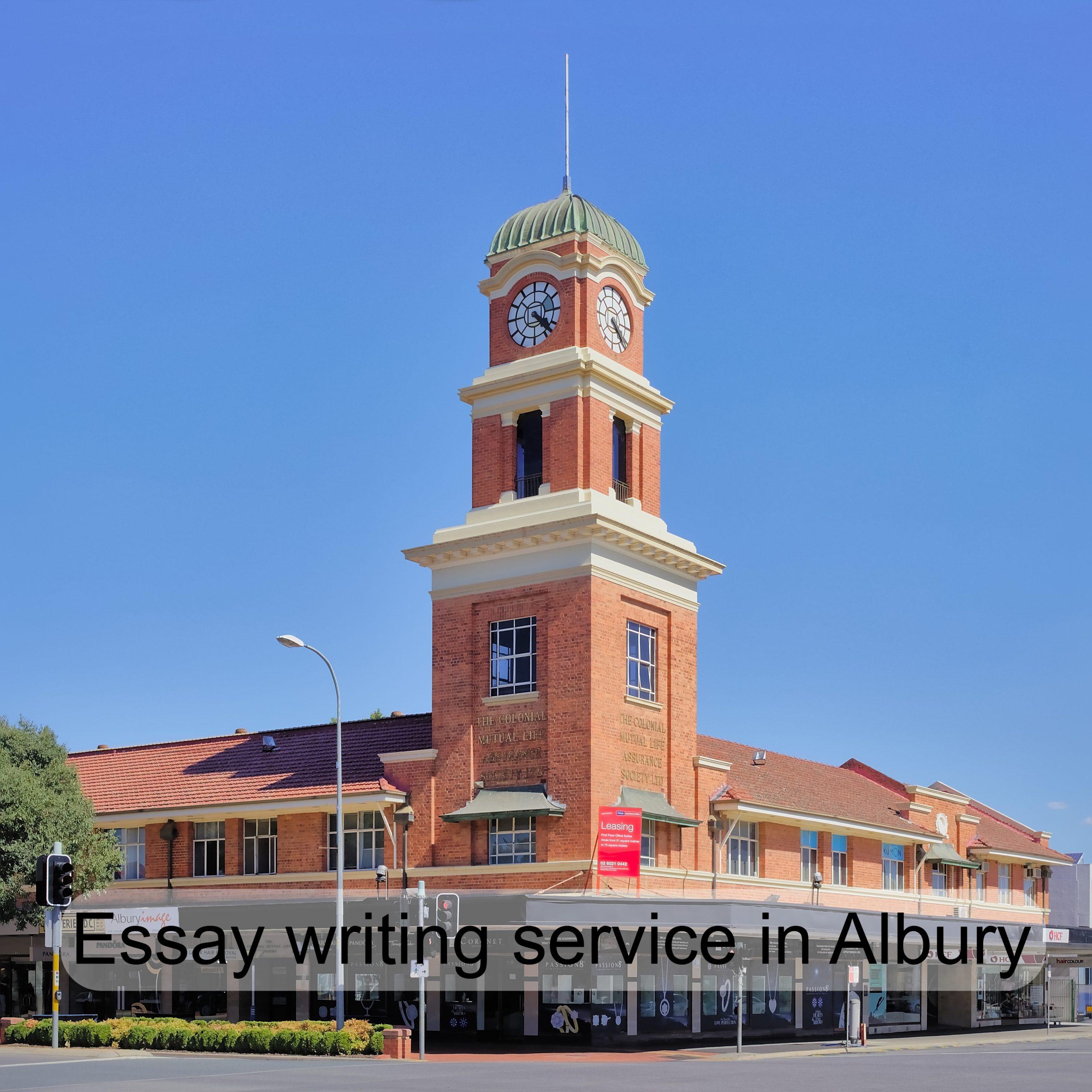 Essay writing service in Albury